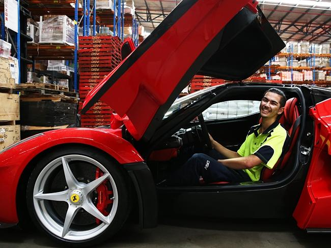 "Look at me ... Jesse De Caires sitting in the La Ferrari, which has been bought by ""betwe"