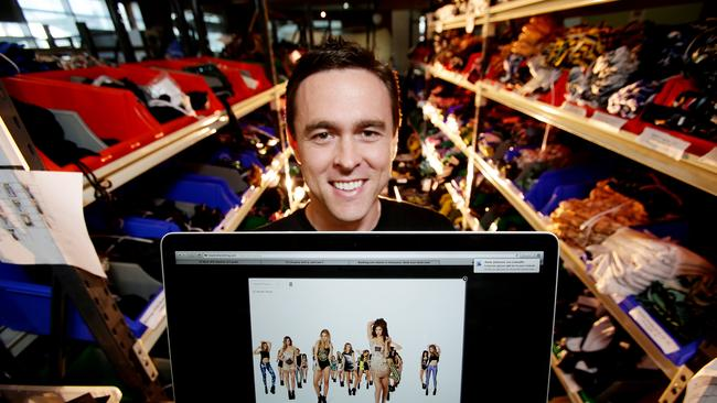 Black Milk Clothing's Cameron Parker showing off the new 3D interactive website.