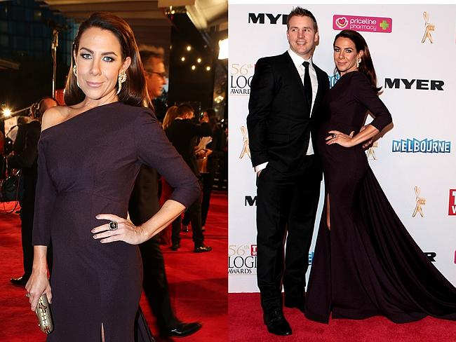Kate Ritchie arrives at the 2014 Logie Awards with Husband Stuart Webb. Pictures: Julie Kiriacoudis and Getty Images