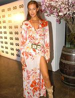 <p>Model Megan Gale at Simmer on the Bay venue at the Rocks in Sydney for GQ Magazine's spring issue launch in 2006.</p>