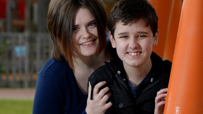 Kelsey Walker wants a school in the south for students with special needs such as her young brother Jordan. Picture: Noelle Bobrige
