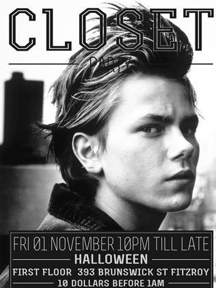 Promo ... River Phoenix on a poster. Pic: Closet Party/Facebook.