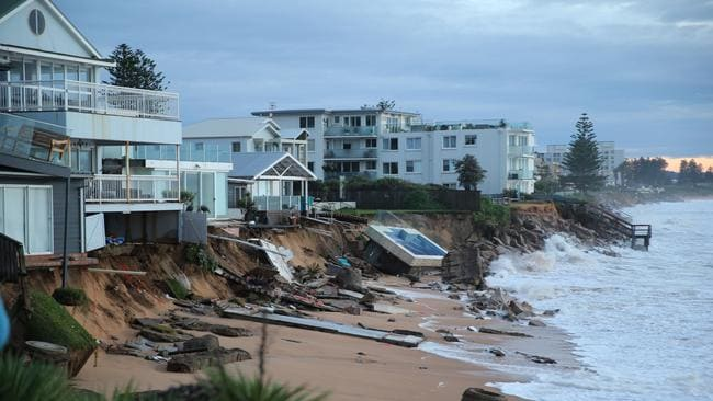 The Savage Storm Destroyed The Collaroy Beachfront Taking With It The Pool From This Home Picture John Graingersourcenews Corp Australia