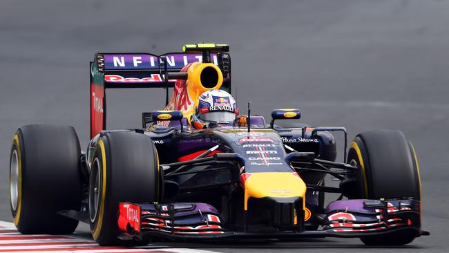Daniel Ricciardo in action en route to securing his second Formula One victory, at the Hungarian GP.