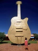 <p><strong>THE GOLDEN GUITAR<br /> Tamworth, NSW</strong><br /> <br /> The Country Music capital of Australia is also home to a massive tribute to the award's trophy - a golden guitar. Standing at 12 metres high, the Golden Guitar was appropriately opened by Slim Dusty in 1988.<br /> <br /> Picture: Supplied</p>