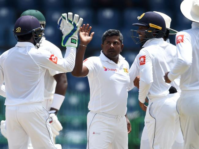 Rangana Herath is keeping Sri Lanka in the contest.