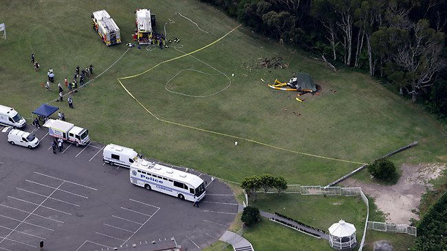 Helicopter crash at Bulli Tops