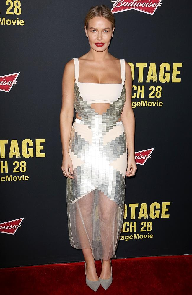 Bingle's daring dress featured ample cleavage and midriff cut-outs. Picture: Splash.