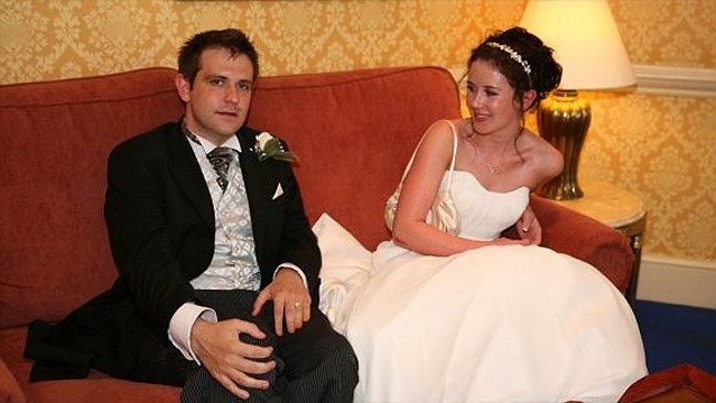 Jill Meagher and Tom on their wedding day.