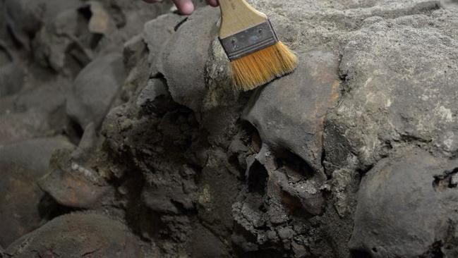 Aztec tower of skulls found in Tenochtitlan, Mexico City