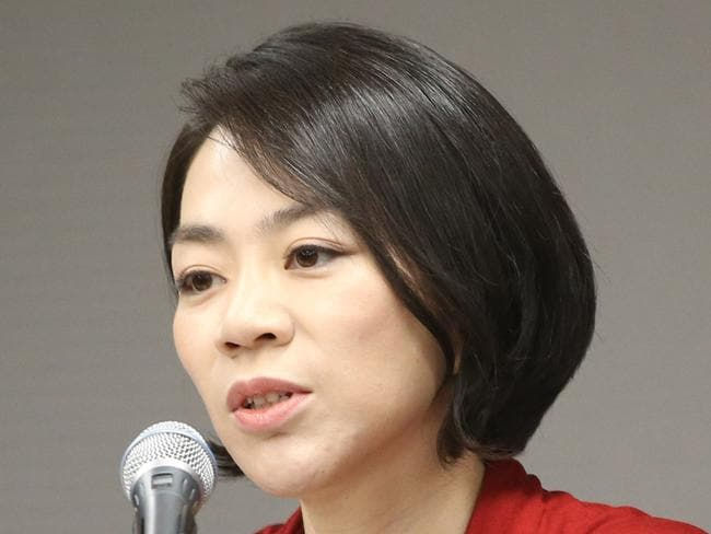 Embarrassment ... Korean Air executive and heiress Cho Hyun-ah left the airline after a public uproar. Picture: AP Photo/Yonhap