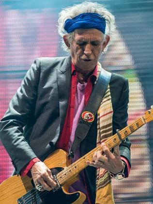Mom. or pop ... Keith Richards on stage at the 2013 Glastonbury Festival. Picture: Ian Gavan/Getty Images