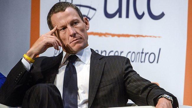 Disgraced cycling champion Lance Armstrong has stood down as chairman of the Livestrong charity. Picture: Rogerio Barbosa.