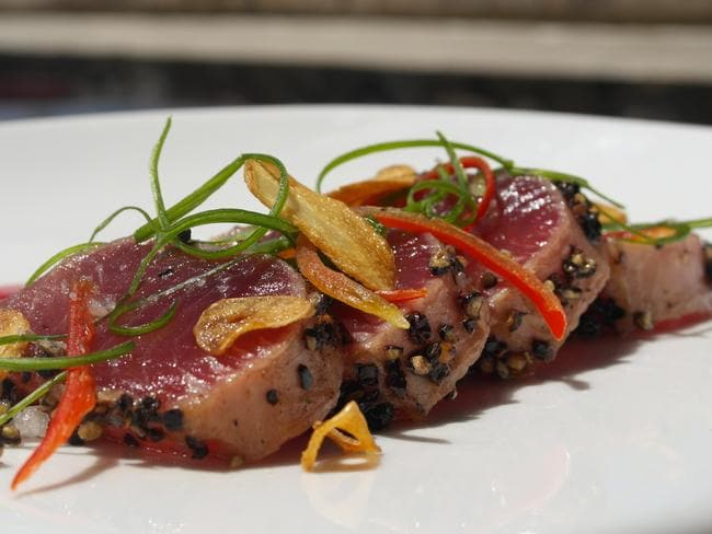 Peppered tuna created by Buchele and served at the Spa Village Resort in Bali.