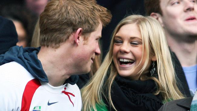 Prince Harry and his girlfriend Chelsy Davy in 2008.