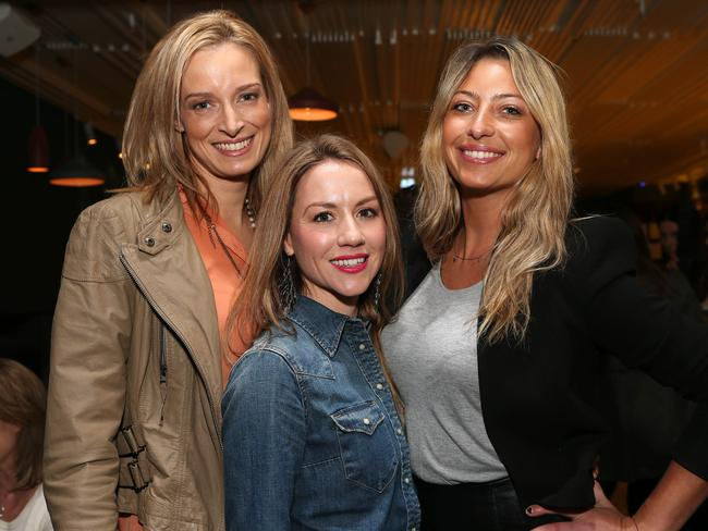 2013 Bachelor ladies Penny Palman, Belle Davie and Bianca Martin.