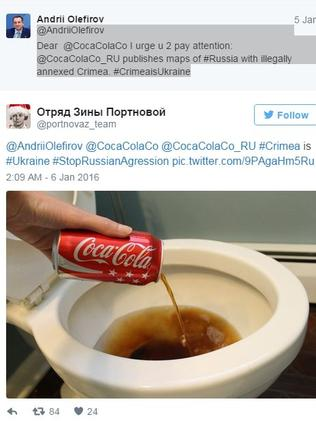 One of the tweets alerting Coca-Cola to their mistake.