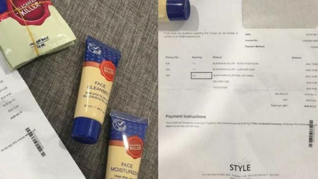 Asya Moussawi sent the company an email to say she hadn't actually ordered the products.