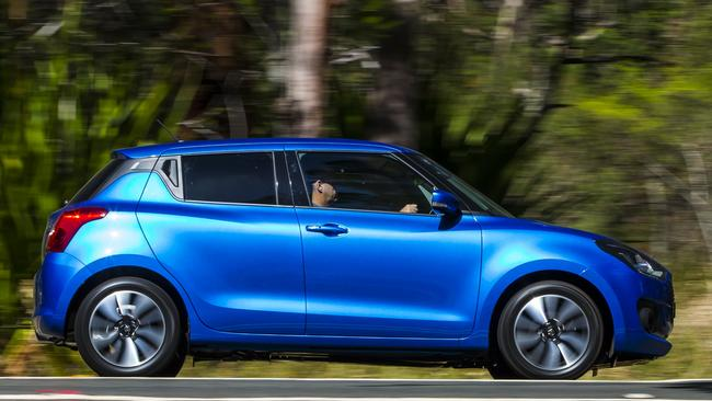 The Suzuki Swift GLX seems expensive in isolation, but is a bargain in this company. Photo: Supplied.