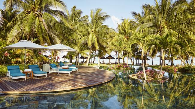 The pool at LUX Le Morne, Mauritius