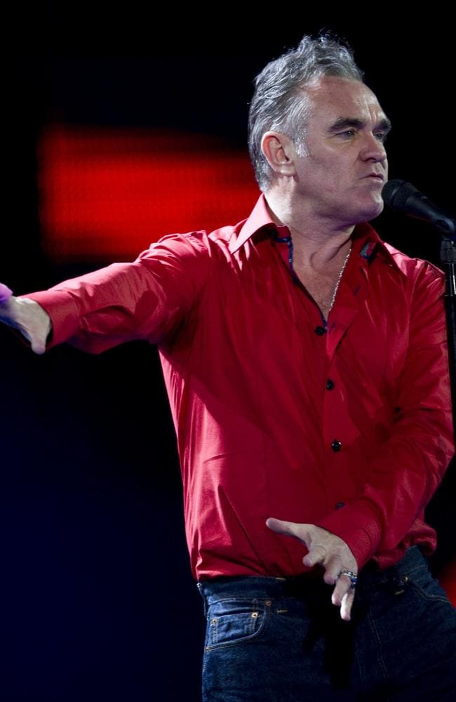 Meaty demand ... Don't be wearing a meat frock to Morrissey's Vivid LIVE shows in May. Picture: AFP.