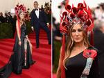 Sarah Jessica Parker and Andy Cohen attend the Met Gala 2015 'China Through The Looking Glass'. Picture: Getty