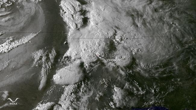 This NOAA photo obtained April 28, 2014 shows a satellite image taken at 2345Z on April 2