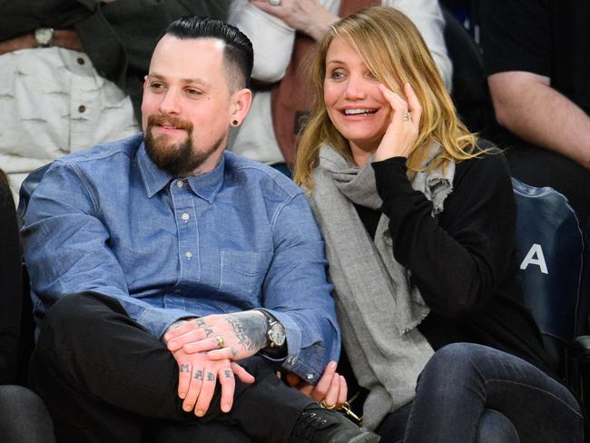 Diaz and hubby Benji Madden. Picture: Noel Vasquez/GC Images