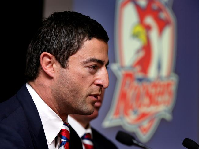 Anthony Minichiello announcing his retirement at the end of the year at Allianz Stadium. Picture Gregg Porteous