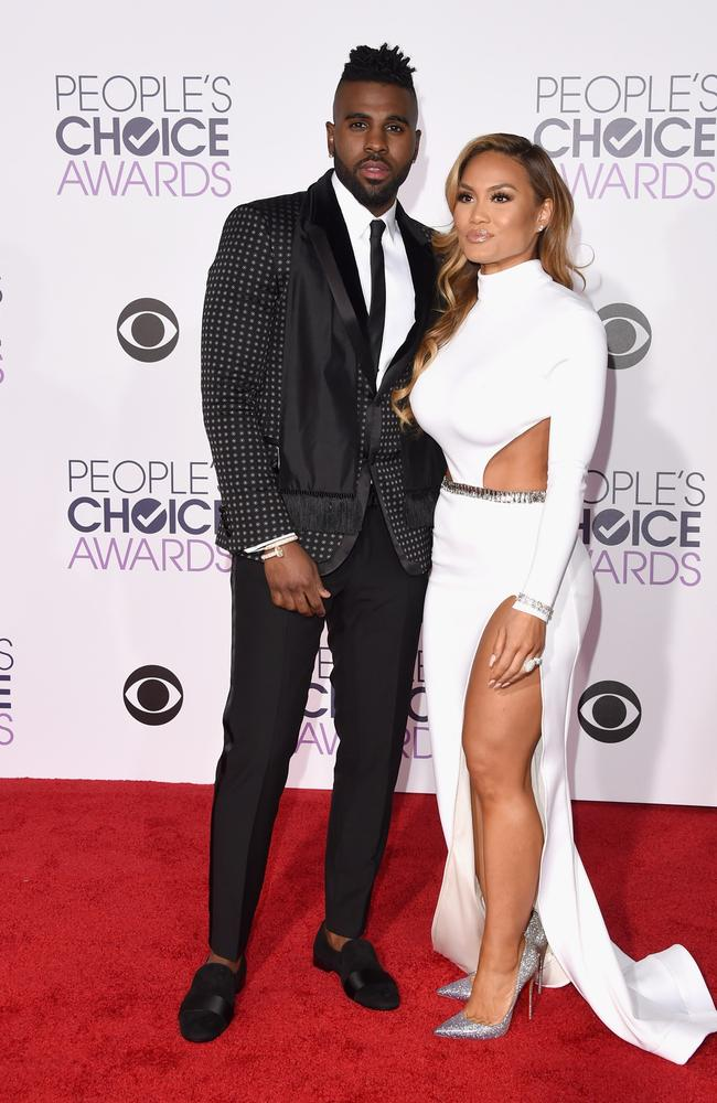 Jason Derulo and Daphne Joy attend the People's Choice Awards 2016. Picture: Jason Merritt/Getty Images/AFP