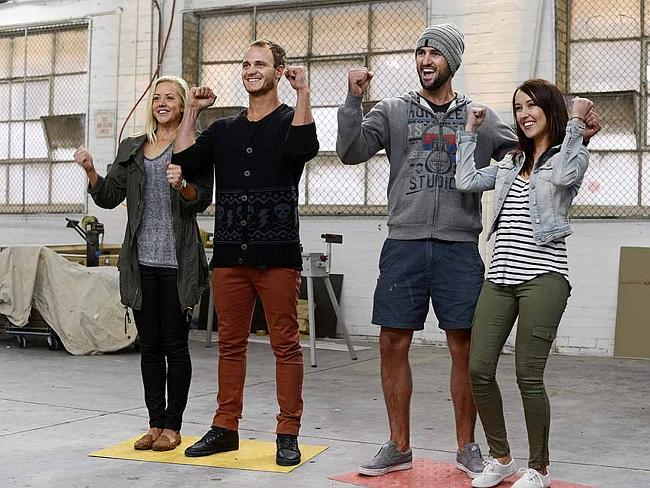 Cheering chippies ... contestants from this season of The Block.