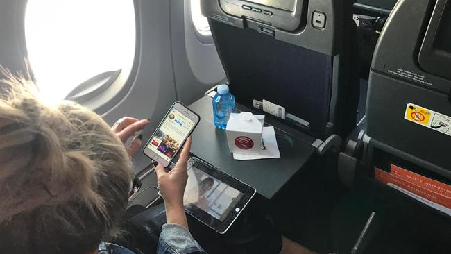 Are you receiving me? Qantas unveils its new in-flight Wi-Fi Pic: Supplied