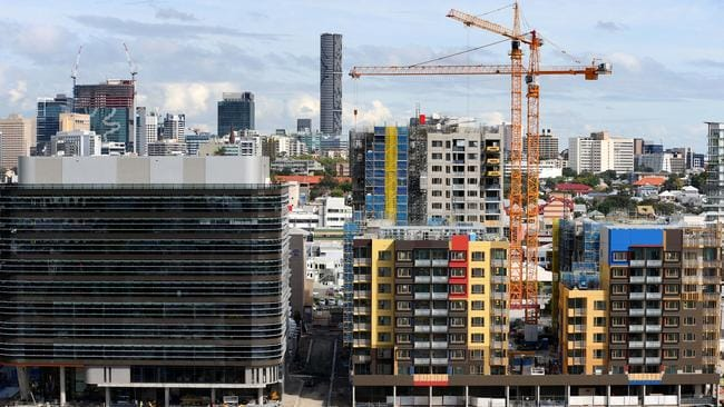 Brisbane has seen an apartment block building frenzy and it's set to continue. Pic: Richard Walker