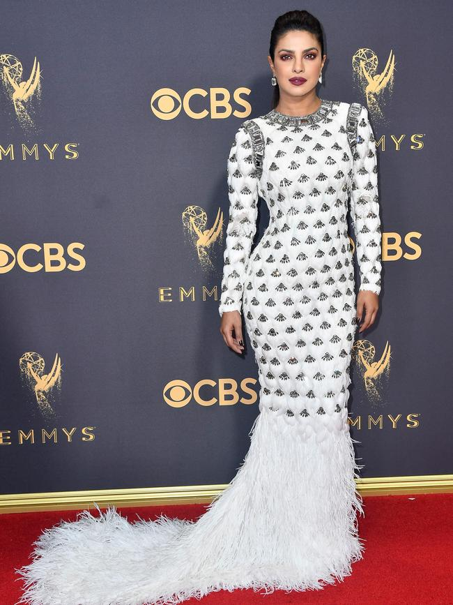 Priyanka Chopra attends the 69th Annual Primetime Emmy Awards at Microsoft Theater on September 17, 2017 in Los Angeles. Picture: Getty
