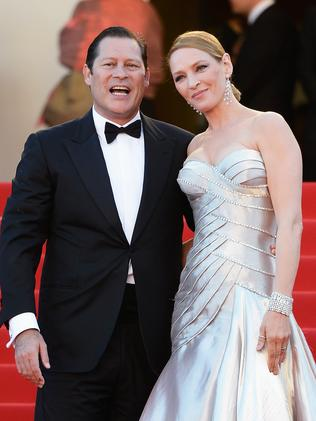 Uma Thurman split with fiance Arpad Busson earlier this year. Picture: Pascal Le Segretain