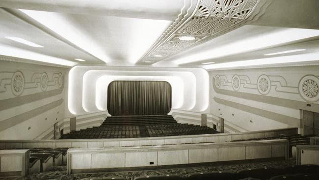 Inside the Star Theatre (later the Capri) at Goodwood, October 1941.