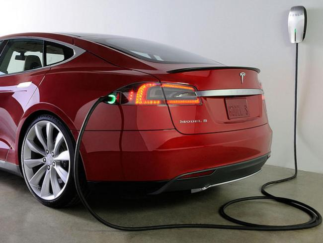 Only one ... Tesla so far has only one unique recharging point in Australia. Picture: Supplied.