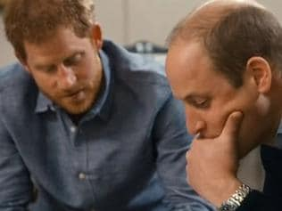 Supplied Editorial Prince William and Prince Harry discuss Diana's death