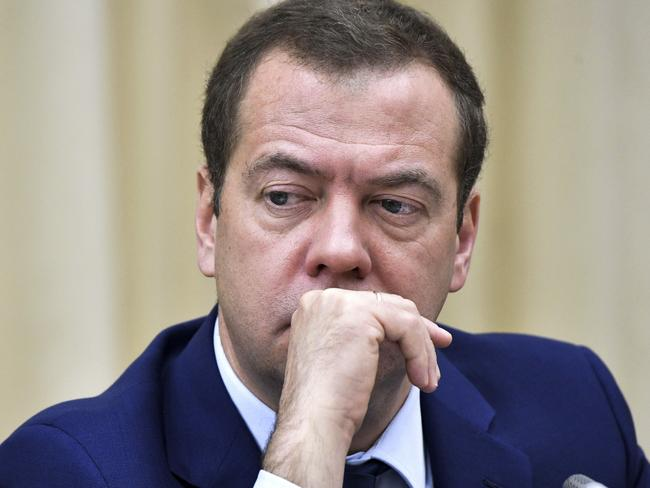 Russian Prime Minister Dmitry Medvedev has attacked Donald Trump. Picture: AP