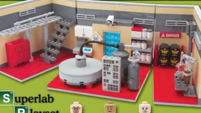 The play kit called 'SuperLab', inspired by TV show Breaking Bad, allows users to build their own drug dens. Picture: Supplied.