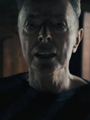 Chilling last music video ... David Bowie looked gaunt in the clip for Lazarus. Picture: Supplied