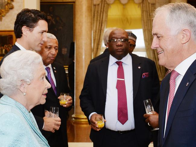 Queen Elizabeth with Prime Minister Malcolm Turnbull in Malta last November / Picture: Getty Images