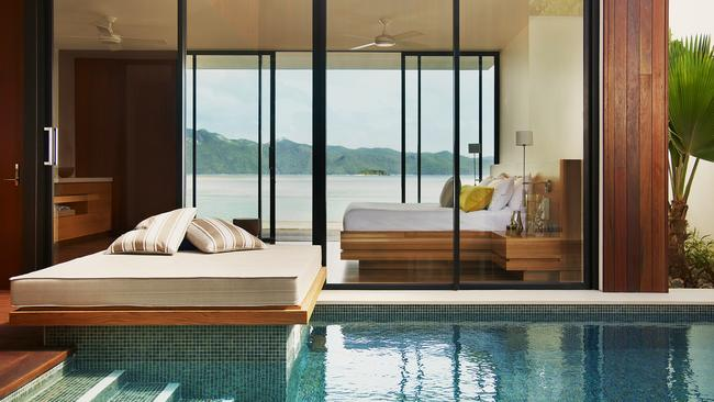A beachside pavilion at One & Only Hayman Island
