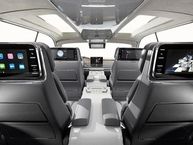 Screens for all ... No need for I Spy in the Ford Lincoln Navigator. Picture: Supplied