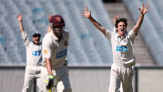 Will Sheridan is excited after having the Bulls on the ropes early on the first day at the MCG. Picture: Getty Images