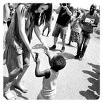 Meghan Markle dances with a child while visiting Rwanda with World Vision Canada. Picture: Supplied/ Meghan Markle Instagram