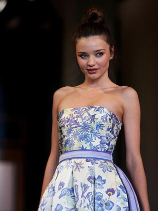 Miranda Kerr on the catwalk / Picture:Lisa Maree Williams/Getty Images