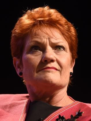 One Nation Senator Pauline Hanson has been taking credit for the Turnbull Government's proposed lifetime ban on boat arrivals. Picture: Lukas Coch.