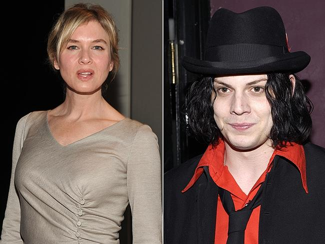 Volatile couple ... Renee Zellweger and Jack White made an unlikely couple after meeting on the set of Cold Mountain.