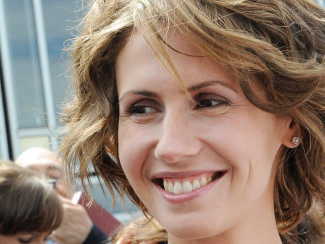 Syria's First Lady Asma al-Assad has been offered asylum but turned it down. Picture: AFP PHOTO MIGUEL MEDINA